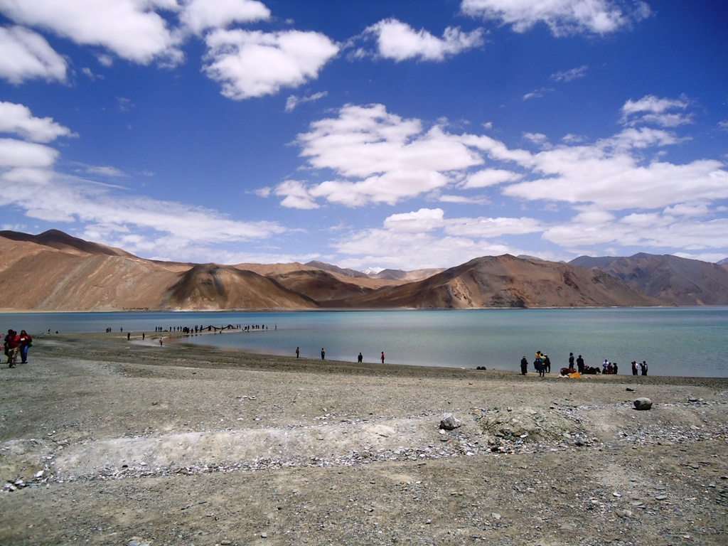 View of Pangong Lake at Ladakh