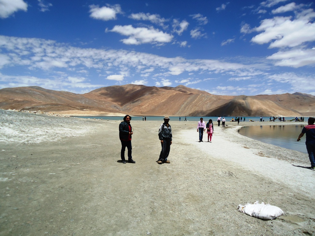 View of Pangong Lake at Ladakh India